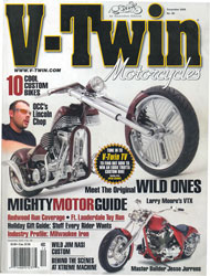 V-Twin Magazine December 2005 Cover